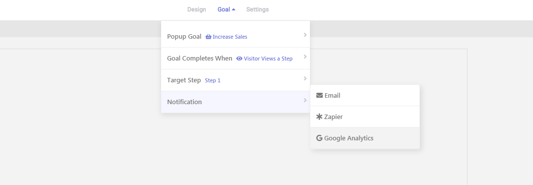 Track Popup Goals with Google Analytics